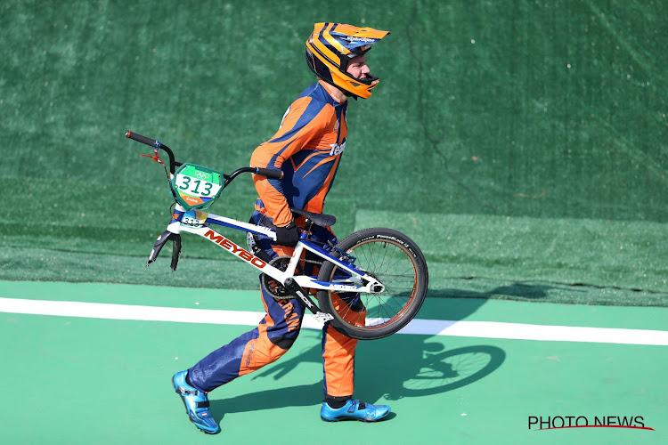 Nederlandse BMX'er die op official botste pakt met barst in de knieschijf goud
