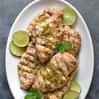 Mint Lime Grilled Chicken Breasts.
