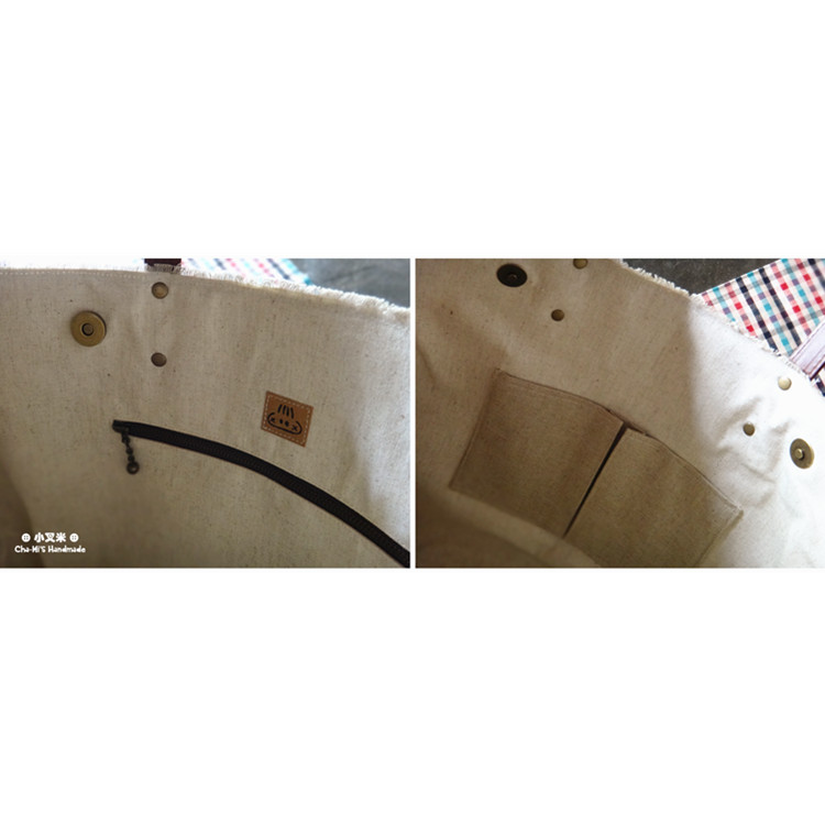Patched Paper Tote Bag