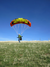 Photo: Kiting a small speed wing at Saleve Les Crets