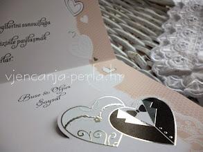 Photo: Detalj pozivnice BRIDE & GROOM LACE Šifra: 530068 Cijena: 11,90 kn