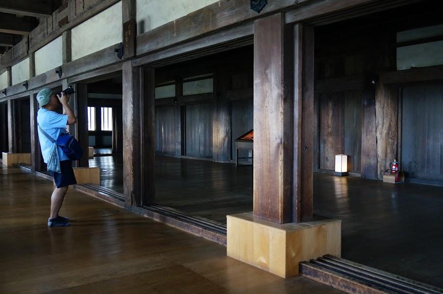 Wooden interior of Himeji Castle
