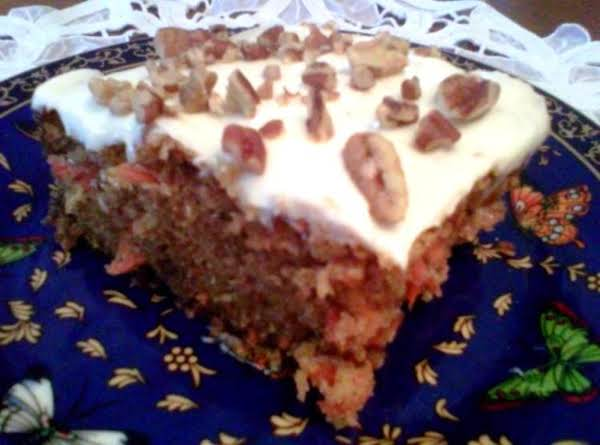 Sea's Carrot Cake With Cream Cheese Icing Recipe