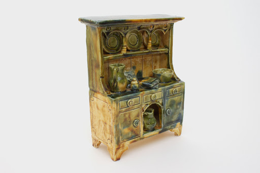 Ian Gregory Ceramic Sculpture 'Welsh Dresser'