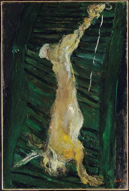 Хаим Сутин. Заяц на зеленом ставне.