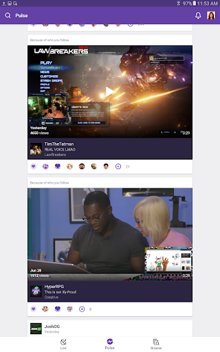 Twitch: Livestream Multiplayer Games & Esports app (apk) free download for Android/PC/Windows screenshot
