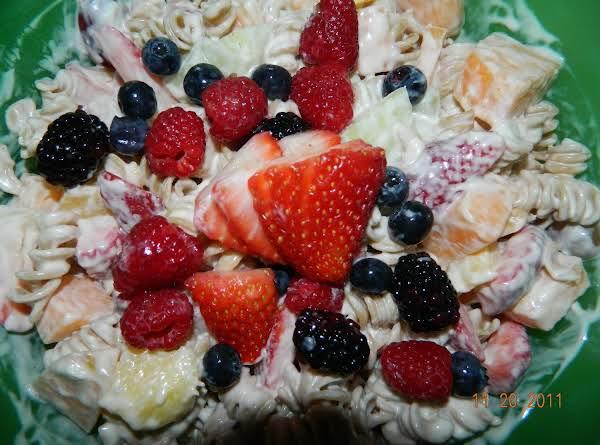 Pasta fruit salad_image