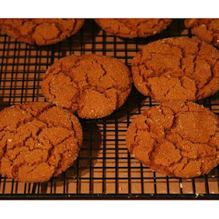 Ginger Molasses Rye Cookies.