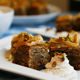 Mini Pistachio, Walnut & Honey Baklava.