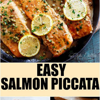 Salmon Piccata With Capers Recipes.