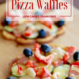 Low Carb Pizza Waffles.