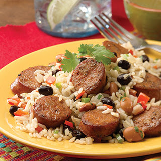 Cuban Beans and Rice with Sweet & Smoky BBQ Chicken Sausage