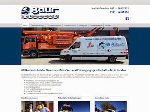 Photo: Referenz Webdesign: Baur Ver- und Entsorgungsgesellschaft mbH (HTML5/CSS3, WordPress)