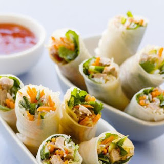 Duck and Veggie Rolls