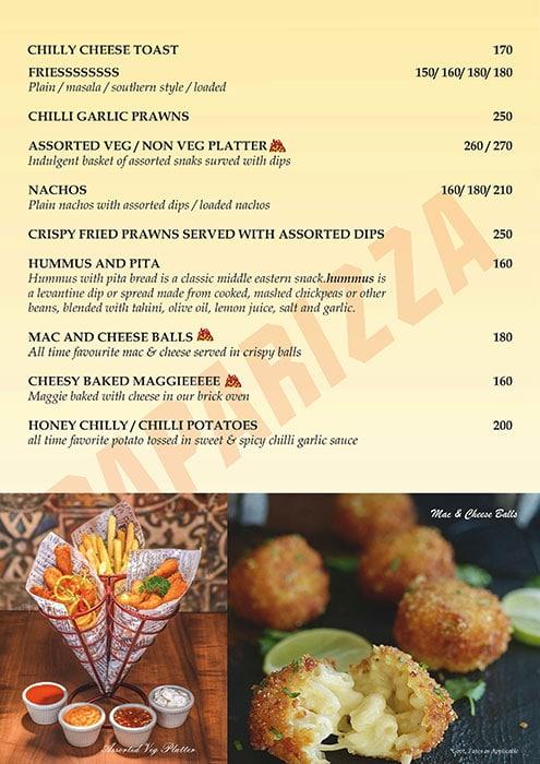 Paparizza menu 5