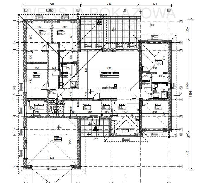Przykładowy rysunek szczegółowy projektu domu Tooba