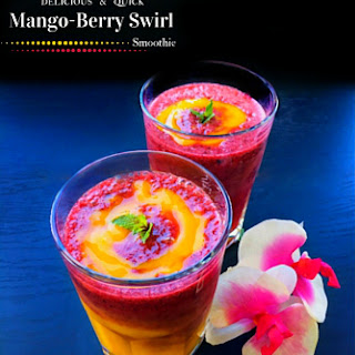 Delicious and Quick Mango Berry Swirl Smoothie