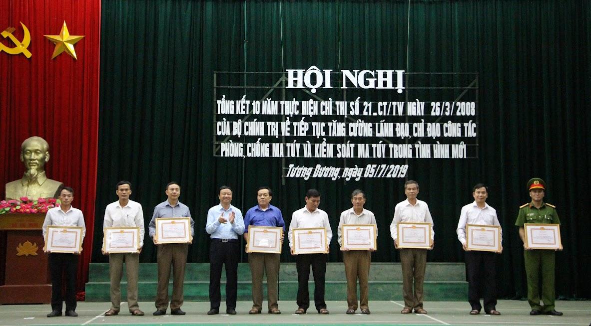 Các tập thể, cá nhân được khen thưởng của Huyện ủy, Chủ tịch UBND huyện.