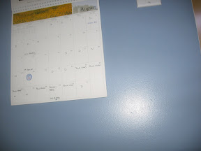 Picture of the kitchen calendar