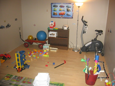 The new downstairs playroom