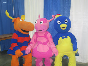 Tyrone, Pablo, and Uniqua from the Backyardigans