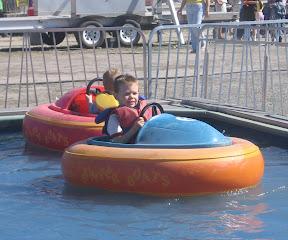 BigE in the bumper boat