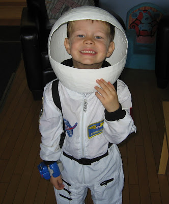 BigE with his full Astronaut costume