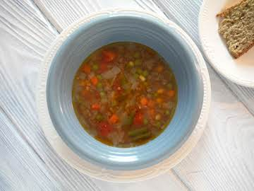Beef and Vegetable Soup with Ground Beef