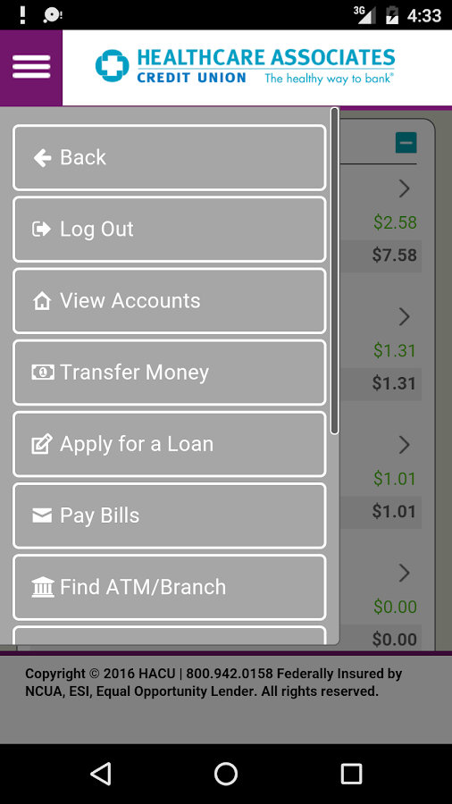 HACU Mobile App- screenshot