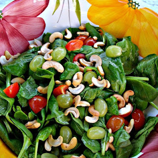 Refreshing Spinach and Grape Salad.