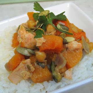 Mild Squash and Salmon Curry.