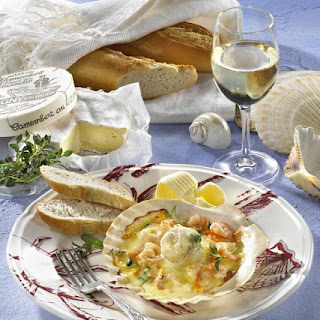 Baked Haddock with Brie.