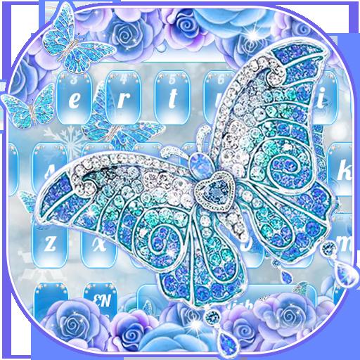 Luxurious Diamond Butterfly Flower Keyboard
