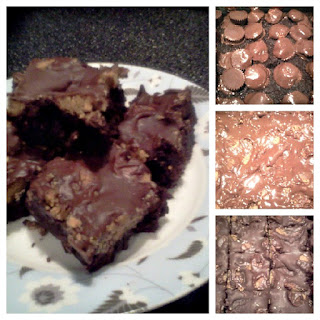 Peanut Butter Cup Brownies with Brownie Mix