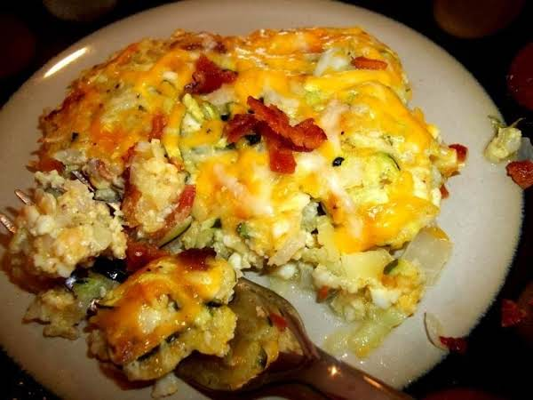 ~ Tasty Zucchini & Bacon Casserole ~ Cass Recipe