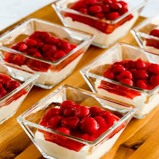 Low-Carb No Bake Cherry Cheesecake Dessert.