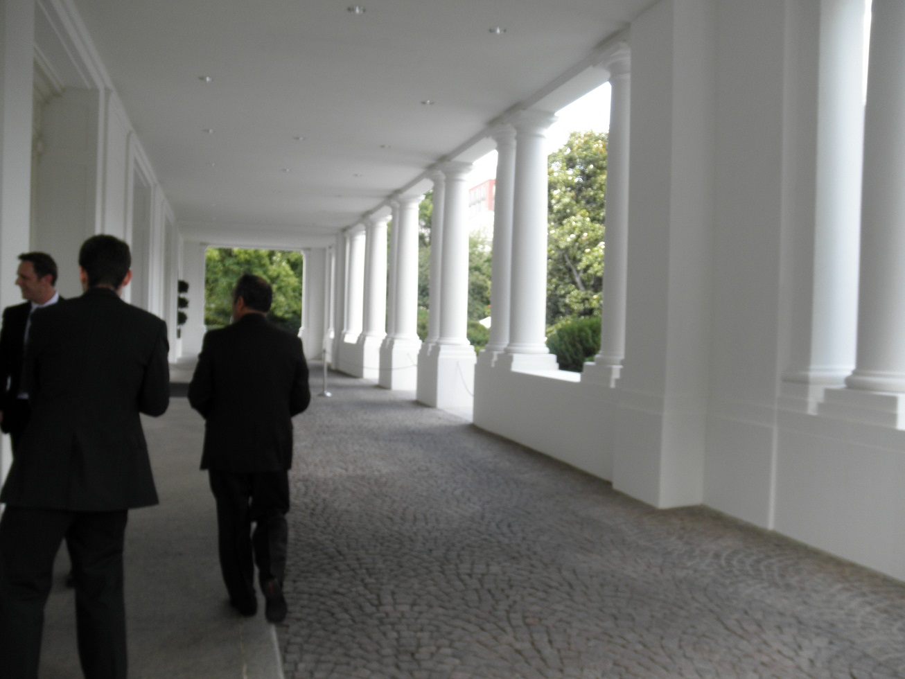Photo: Outside the East Wing.