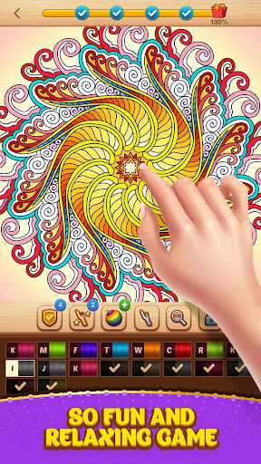 Cross Stitch Coloring Mandala screenshot 3