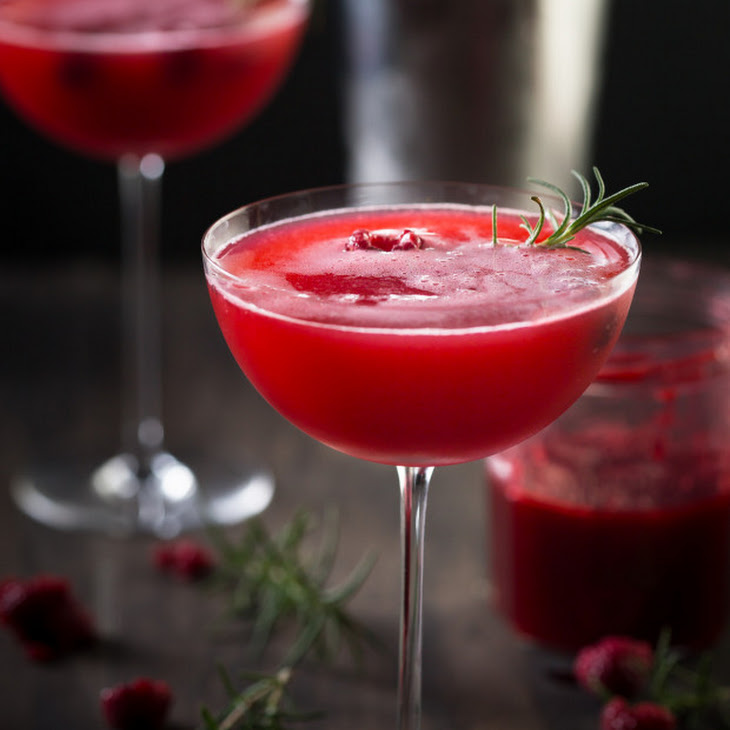 Rosemary Raspberry Vodka Fizz Recipe