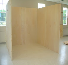 Photo: 10' x 10' Trade Show Booth made of torsion box honeycomb is lightweight, portable, and attractive.