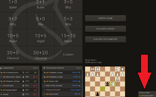 Lichess Friends List Opener