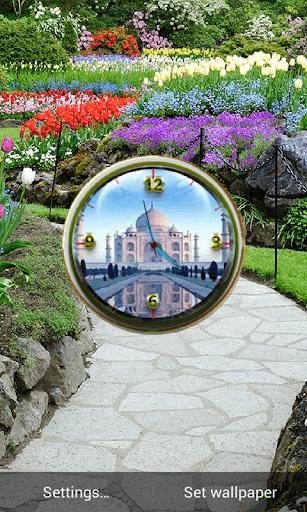 Tajmahel Clock Live Wallpaper