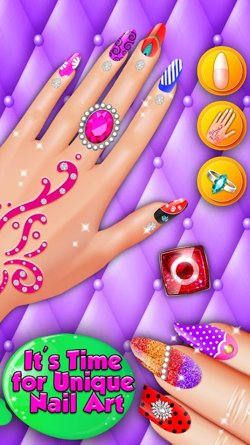Nail Shiny Art Design Stylist: Glowing Colors- screenshot
