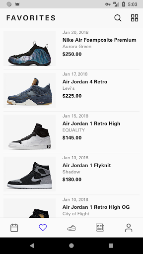 Sneaker Crush - Release Dates screenshot