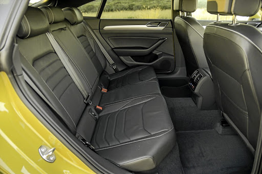 In spite of the coupe roofline, the rear seats offer good space. Picture: QUICKPIC