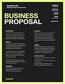 Proposal Action Plan - Business Proposal item