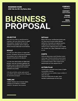 Proposal Action Plan - Business Proposal item