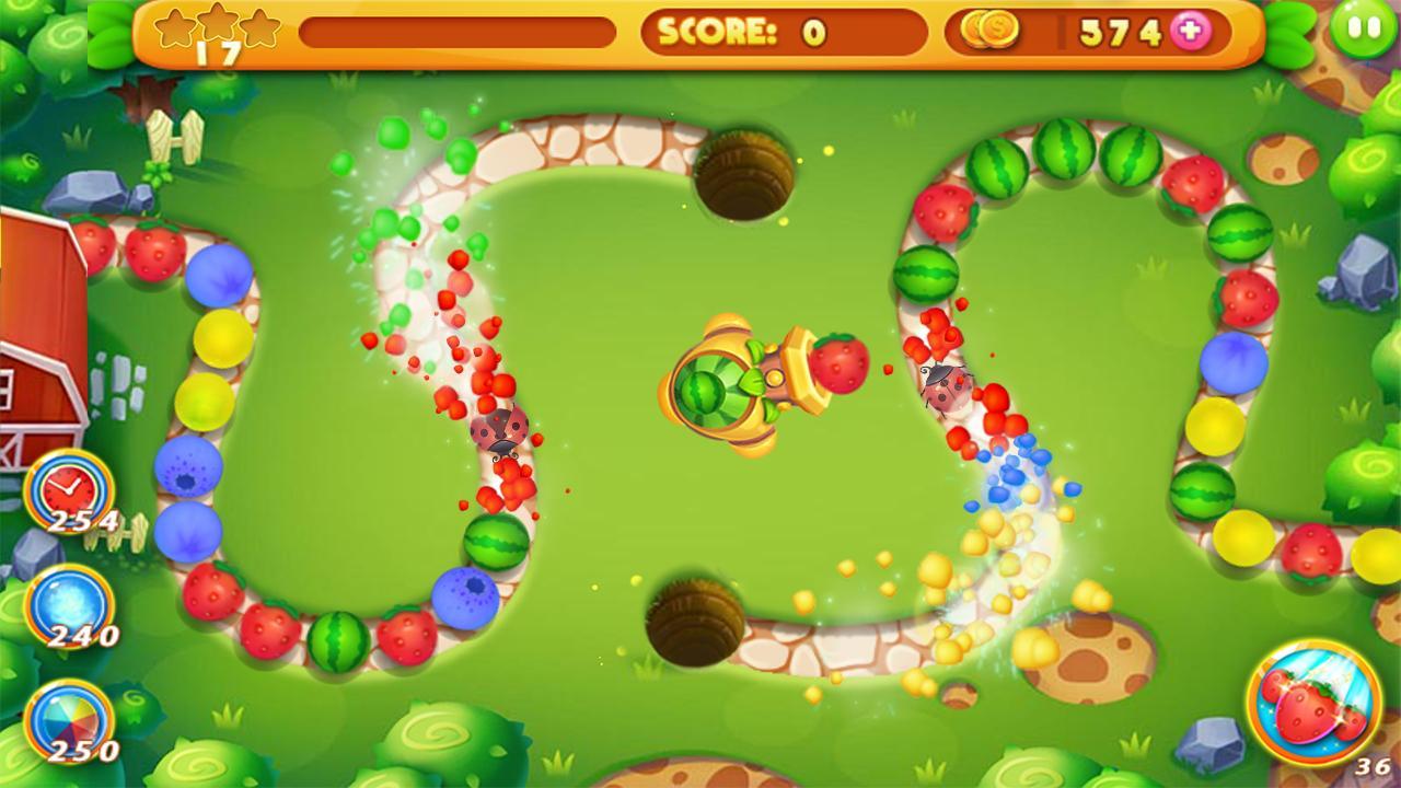 Fruit shoot game - Fruit Marble Screenshot