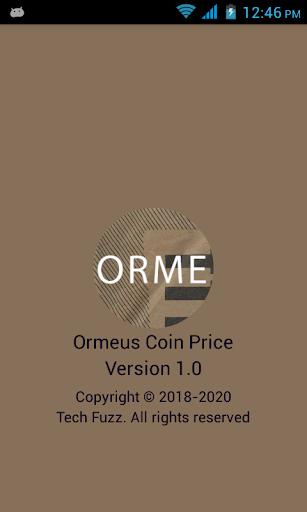 Ormeus coin to usd