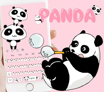 Download Cute Panda Keyboard Theme For PC Windows and Mac apk screenshot 2